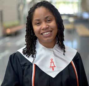 a graduate of Tau Beta Pi honors in her cords